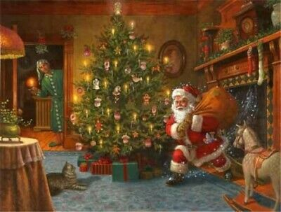 HD Print on Canvas Painting Home Decoration Wall Art,Santa Claus 12x16inch