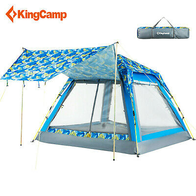 Kingcamp 4 Person Double Layer Dome Tents Quick Open Tent Outdoor Camping Hiking