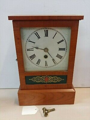 Vintage Ansonia Company USA 8 & 1 Day Wooden Mantle Clock *Not Working*  @26D
