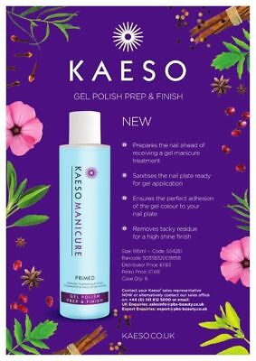 Kaeso Manicure PRIMED Gel Polish PREP & FINISH - Cleanse & Sanitise Nail 195ml