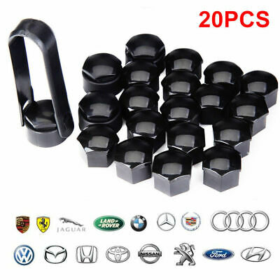 20 x 17mm Silicone Wheel Nut Caps Bolt Covers for Audi VW Vauxhall Bmw Mercedes