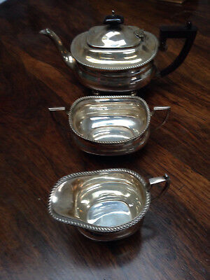 Vintage Classical sliver plated English teaset very elegant!