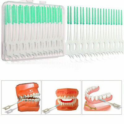 80x Cure Dents Brosse Brossette Interdentaire Dentaire Nettoyage Toothpick