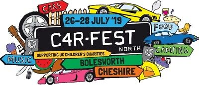 CARFEST NORTH TICKETS - 26th-28th July, 3 ADULTS + 5 KIDS & CAMPING & CARPARKING