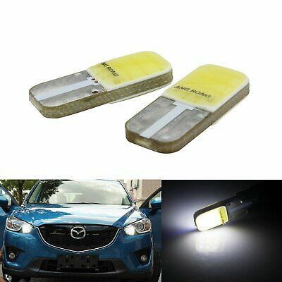 2X 147 501 T10 W5W COB LED Bulb Side Indicator License Plate Light Lamps White