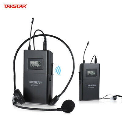 UHF Wireless Acoustic Transmission System Transmitter + Receiver 100m New F2X3