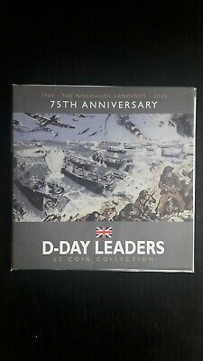 2019 Isle Of Man 75th Anniversary World War Two D-Day Leaders ×3 Set £2 Coins