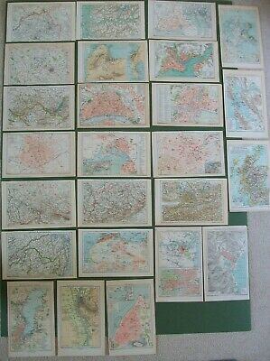 25 Antique Maps 1898 Sydney Street Plan San Francisco Scotland South Africa More