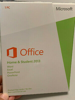 Microsoft Office Home & Student 2013 Word Excel PowerPoint OneNote NEW SEALED