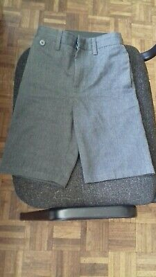 2 Pairs Of Marks & Spencer Boys Grey School Shorts Age 7-8 Yrs