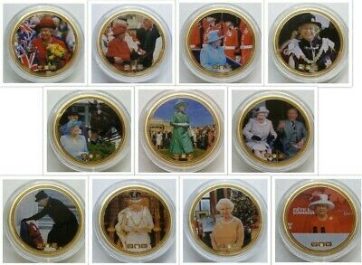 24ct Gold-Plated NumisProof Medallions 2012 A Year In Life Of Queen Elizabeth II