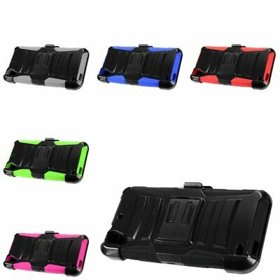 For HTC Desire 530 Advanced Armor Dual Layer Hybrid Stand Case + Holster Clip