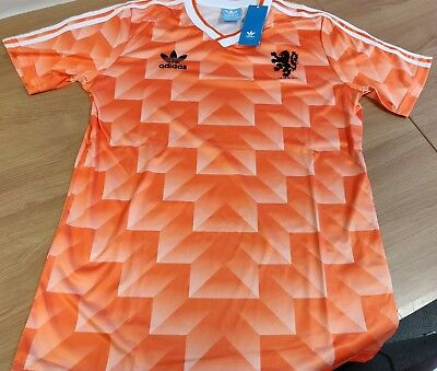 80s-style Holland Classic 1988 Football Soccer Shirt Medium CHECK SIZE Retro