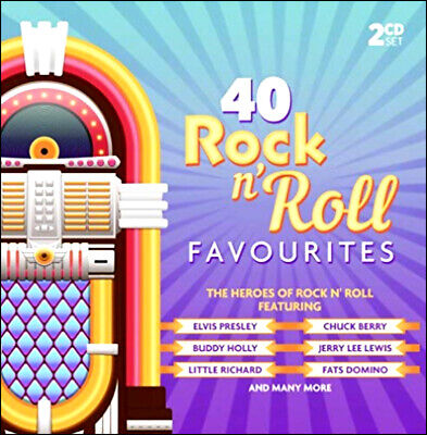 ROCK & ROLL * 40 Greatest Hits * New 2-CD Boxset * All Original 50's + 60's Hits