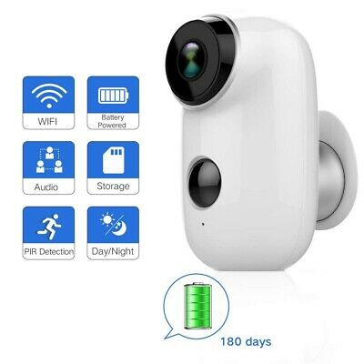 Outdoor Security Camera Wireless Rechargeable Battery Home Surveillance WIFI Cam