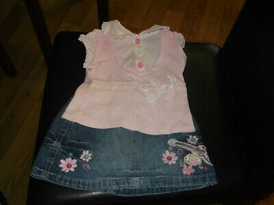 baby girls pretty summer outfit cherokee next 3-6 months