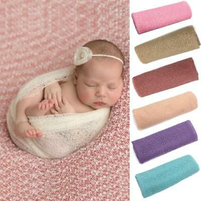 1 Pc Multicolor Newborn Baby Yarn Swaddle Knit Wrap Photo Photography Prop CS