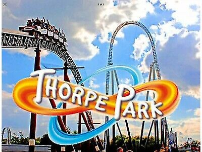 2  X THORPE PARK RESORT TICKETS FOR MONDAY 16th SEPTEMBER 2019.NOT e TICKETS.