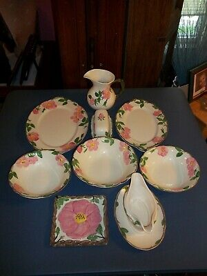 Franciscan DESERT ROSE China Serving Pieces Platters Bowls Butter Pitcher+