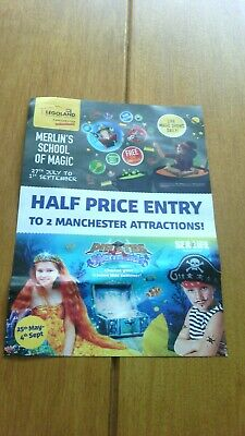 Legoland Discovery Centre & Sealife Manchester 50% Off Up To 4 People Voucher