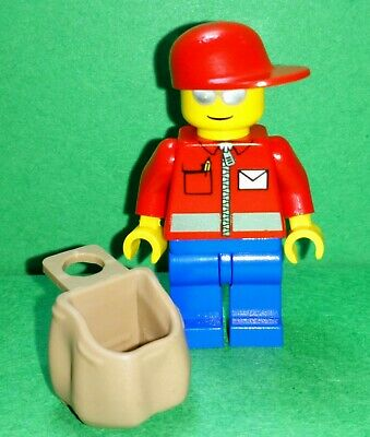 Lego - City - Postmaster Postal Worker Royal Mail Delivery Post Man Minifigure