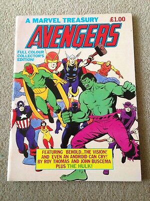 Marvel UK Avengers Collectors Treasury Edition Book 1982 Dave Gibbons Cover VGC