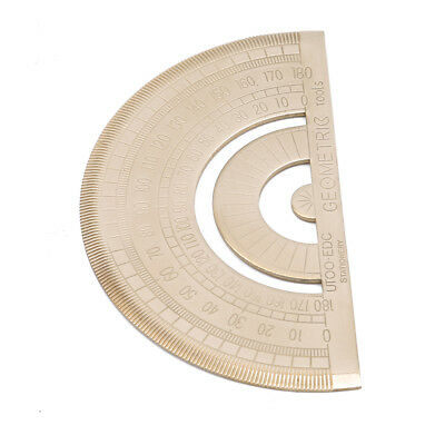 180 Degree Protractor Geometry Mathematical Instrument Circle Ruler Tool CS