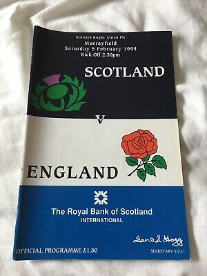 1994-Scotland V England-Five Nations-Calcutta Cup-International Rugby Programme