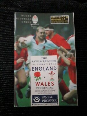 1994 England V Wales-Five Nations Champions-International Rugby Programme