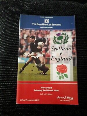 1996-Scotland V England-Five Nations-Calcutta Cup-Triple Crown-Rugby Programme