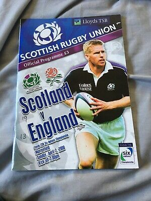 2000-Scotland V England-Six Nations Champions-Calcutta Cup-Rugby Programme