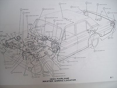 1965 Ford Fairlane Wiring Diagram covers all options! 11x17