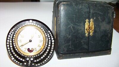 Ladies French clock 1920 Cyl. escapement, pend. motion, illuminus dial, Swiss mf