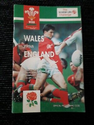 1995-Wales V England-Five Nations-Grand Slam-Triple Crown-Rugby Union Programme