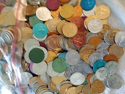 Lot Of 100 Assorted N.o. Mardi Gras Doubloons 1960'S-1970'S (Free Shipping)