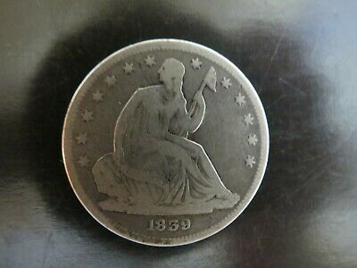 1839 Seated Liberty Half Dollar .50c Silver Coin Early US Coinage