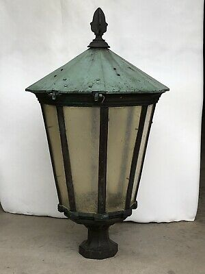Antique vintage Copper brass street light - Cast Iron - French Style- Floor Lamp