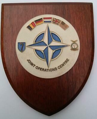 NATO Joint Operations Centre Maastricht 2ATAF 1980s Wall Plaque Shield