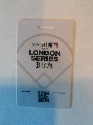 MLB London Series June 30 Boston Red Sox vs NY Yankees Collector Ticket