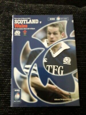 2003-Scotland V Wales-Six Nations-Rugby Union Programme-Vg