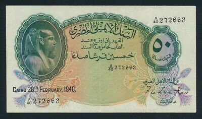 Egypt: 28-2-1948 50 Piastres Sig Leith-Ross. Pick 21d GVF - Cat UNC $467, VF $80