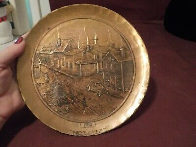 Vintage 1980 Bronze Plate Wendell August Forge Handmade Grove City Pa.