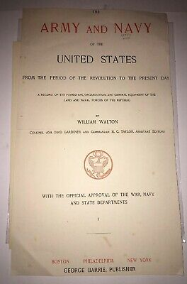 """Army and Navy of the United States"" William Walton  Limited Edition Prints #792"