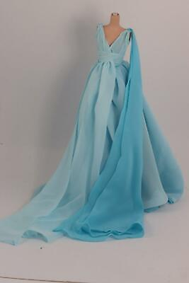 Barbie Silkstone Outfit Blue Chiffon Gown with Shoes, New