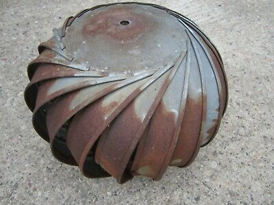 Vintage Galvanized Barn Roof Wind Turbine Air Vent Rusty