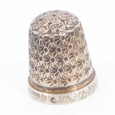 VTG Sterling Silver - The Spa H.G&S. London Sewing Thimble Size 13 - 3.5g