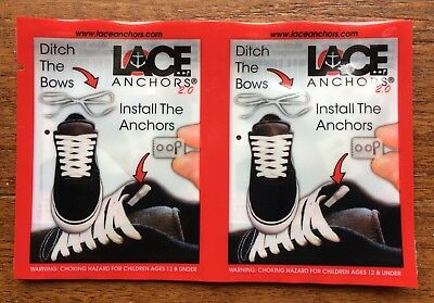 """Shoe LACE ANCHORS 2.0 (2 SETS) """"DITCH THE BOWS, INSTALL THE ANCHORS!"""""""