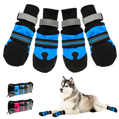 Reflective Dog Shoes Waterproof Large Boots Booties for Snow Rain Anti-slip S-XL