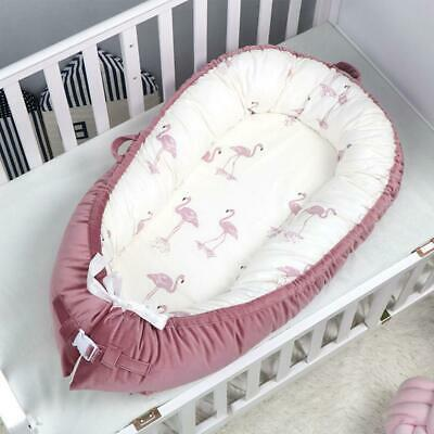 Newborn Baby Bassinet for Bed Lounger Breathable Hypoallergenic Cotton Portable