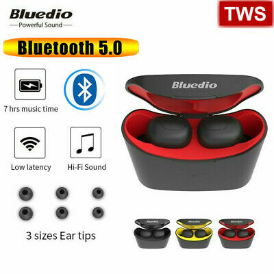 Bluedio T-elf Air pod Bluetooth 5.0 Sports Wireless Earphones with charging box+